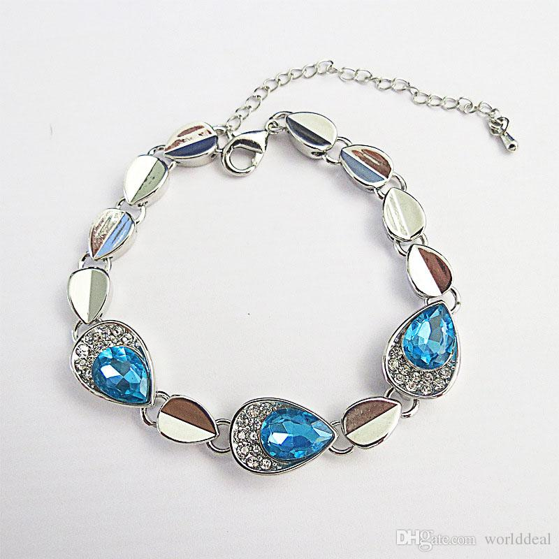 Fashion Ladies Droplets Bracelet Bangle My Heart Will Go On Style Wrist Chain Women Outdoor Ornaments JBS113
