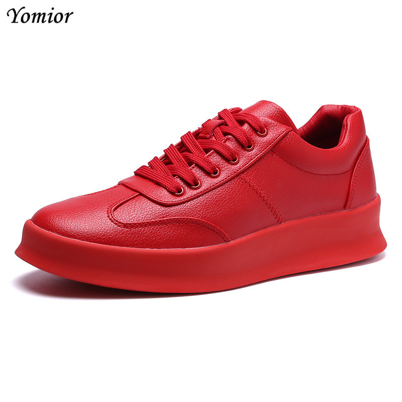 Yomior Hot Sale High Quality Men Shoes Footwear Breathable Casual Shoes Fashion Zapatillas Hombre Sneakers Spring White Shoes 2017 new arrival spring men casual shoes mens trainers breathable mesh shoes male hombre hip hop street shoes high quality