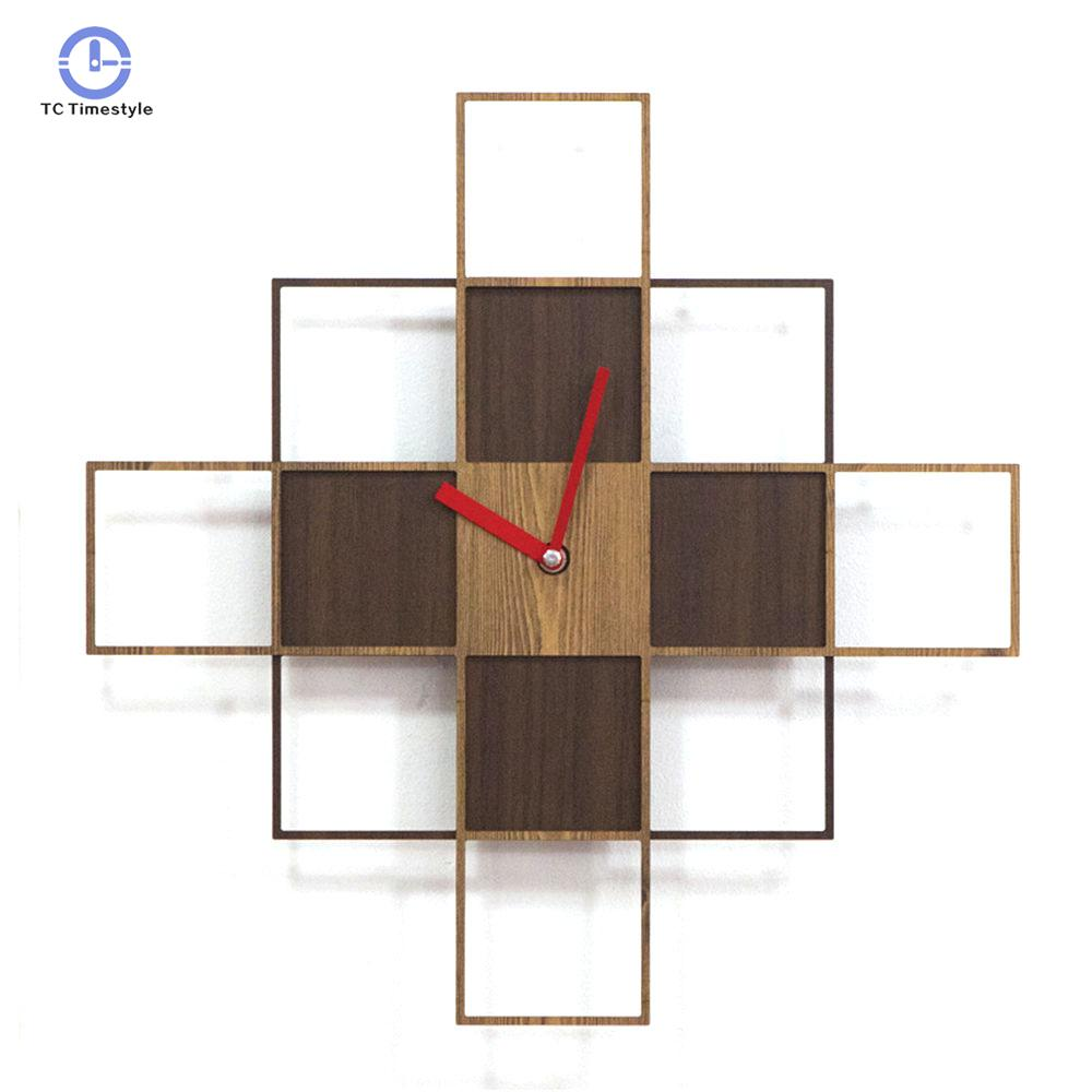 Wall Clock Retro Design Cafe Home Decoration Accessories Pine Wood Wall Clock Special Advanced Vintage WatchesWall Clock Retro Design Cafe Home Decoration Accessories Pine Wood Wall Clock Special Advanced Vintage Watches