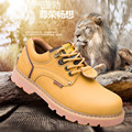Trendy Cool Style Men's Ankle Thick Snow Boots Genuine Leather Good Quality Male Casual Large Size Riding Hiking Shoes