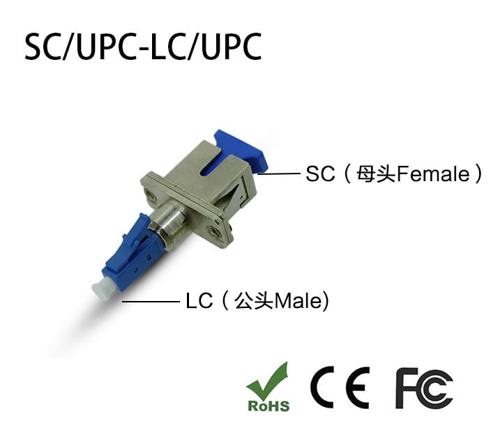 LC/UPC Male To SC/UPC Female Fiber Optic Adapter LC-SC Hybrid Optical Adaptor
