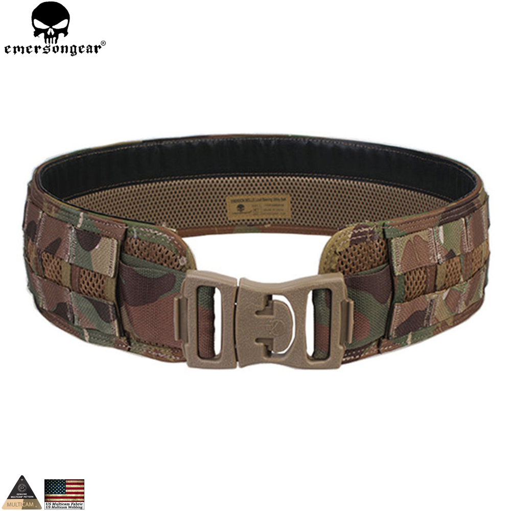 EMERSONGEAR Molle Belt Padded Patrol Belt Emerson Tactical Airsoft Hunting Load Bearing Combat Camo Molle Belt Multicam EM9241 стоимость