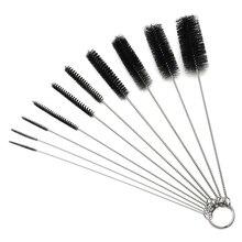 Tube-Brush-Set Cleaning-Set Glasses Keyboards Straws Nylon for Drinking Jewelry of 10