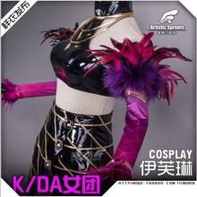 2019 Hot New!!LOL Idol singer new skin KDA Evelyn Sexy High Quality cosplay costume New dress pre-sale