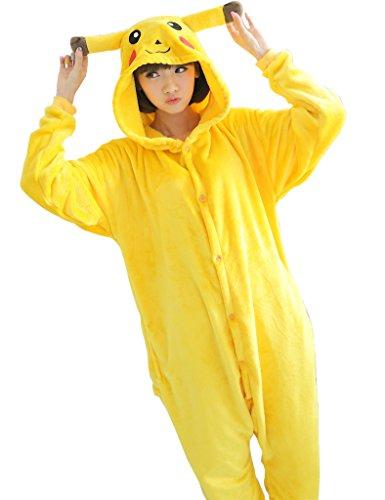 Anime Pajama Cartoon Unisex Adult Pikachu Pajamas Cosplay Costume Animal Onesie Sleepwear Animal pajamas ...