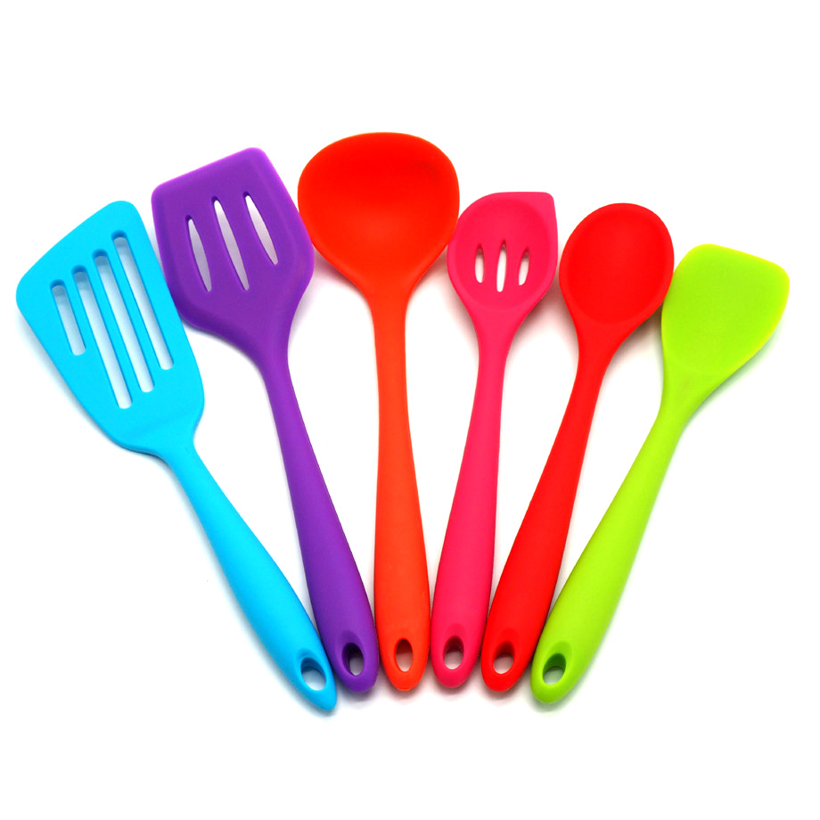 US $20.0 |6 piece/set Cooking set,Colorful kitchen utensils FDA silicone  materials, kitchen utensils-in Other Cake Tools from Home & Garden on ...