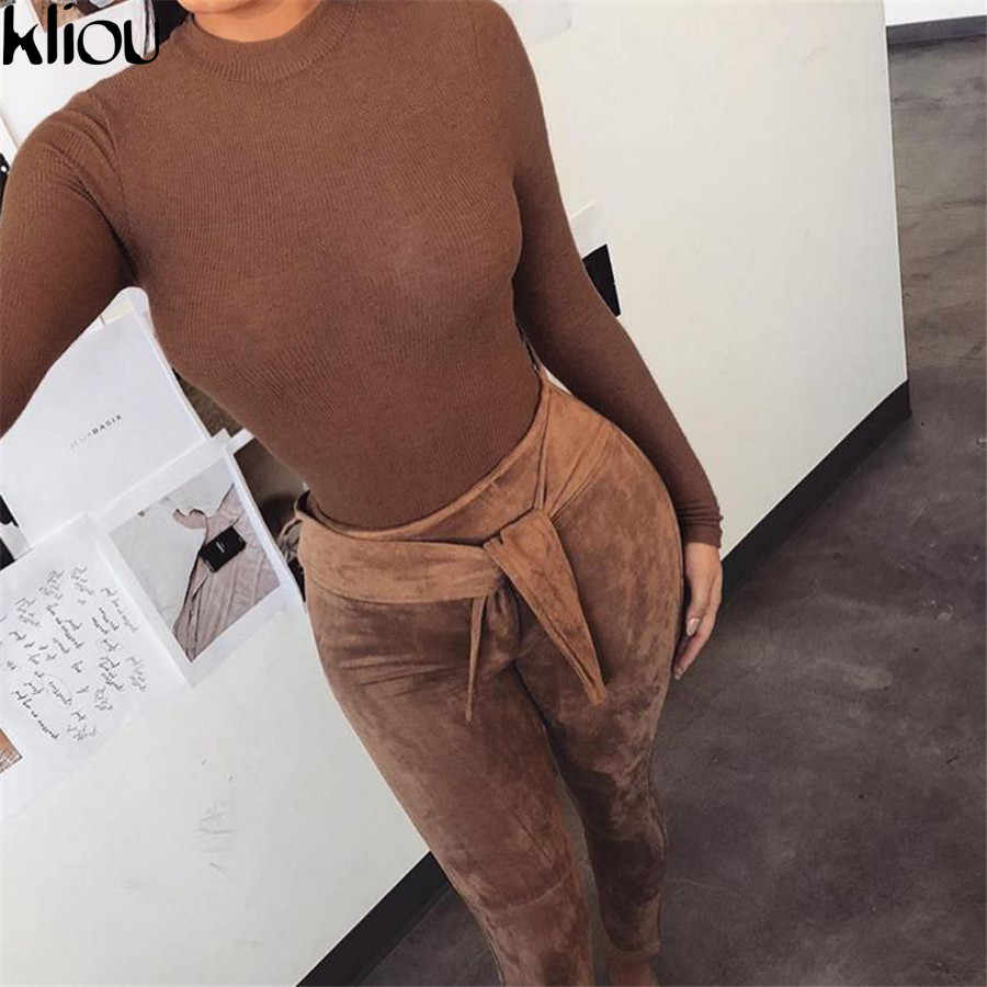 Weirdgirl сексуальный Повседневный облегающий боди с круглым вырезом эластичный тонкий мягкий комбинезон осень-зима черно-белое коричневое элегантное боди