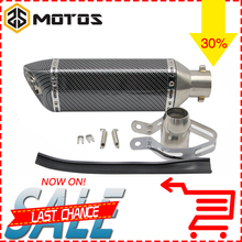 ZS MOTOS 51mm Akrapovic Motorcycle Exhaust Modified Scooter Exhaust Muffle With DB Killer For GY6 CRF 230 MSX 125 ATV Dirt Bike