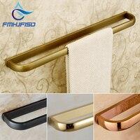 Soild Brass Towel Racks Golden Polished Towel Ring 56cm Single Tower Bar ORB Antique Brass Towel