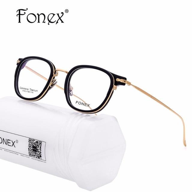 8e5b4be18d3 B Titanium Glasses Frame Men Ultralight Acetate Women High Quality  Prescription Transparent Spectacles Eyeglasses Korean Eyewear