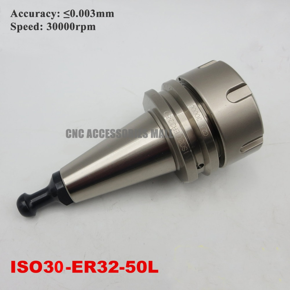 ISO30 ATC Spindle tool handle G2.5 30000RPM ISO30-ER32-50L tool holder hsk50 iso30 tool wrench holder locking device ball lock cutter with bearing pin