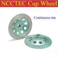 4 '' aro de roda de diamante | 100 mm roda disco de moagem de mármore granito | ar rápido