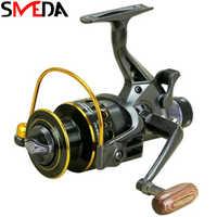 Spinning Angelrollen carretilha de pesca Rad Metall Doppel Bremsen Reel Fluss See Meer Angeln Reel Karpfen Getriebe Werkzeuge