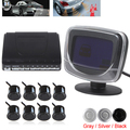 5 PCS Car Rear View Parking System Kit LCD Display Monitor With 8 Sensors For Front And Rear Viewing Backup