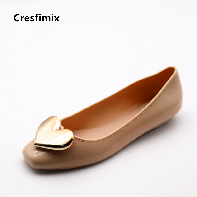 Cresfimix zapatos de mujer women spring & summer soft flat shoes sapatos femininas lady cute heart flats female casual shoes cresfimix sapatos femininas women casual soft pu leather flat shoes with side zipper lady cute spring