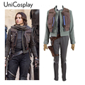 Rogue One A Star Wars Story Jyn Erso Cosplay Costume Sergeant Uniform Coat Vest Holster Shirt Pants Gloves Custom Made