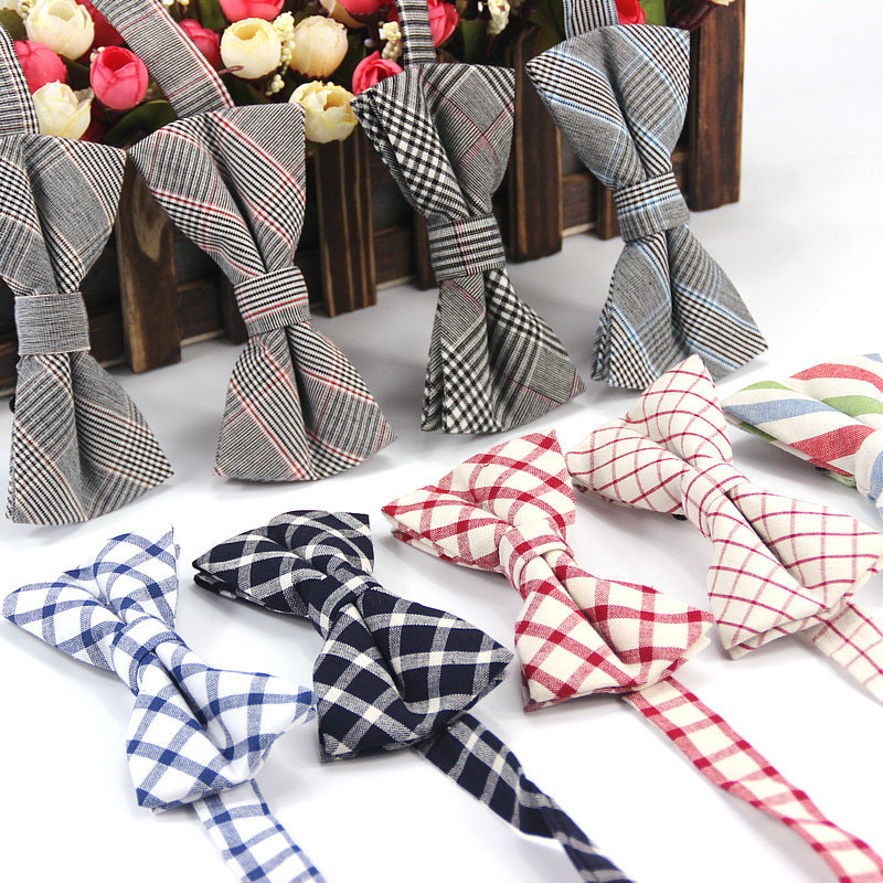 Inventive Classic Plaids Checks Striped Men's Cotton Bow Ties Adjustabletuxedo Necktie Bowtie Prom Holiday Wedding Party Gift Accessories