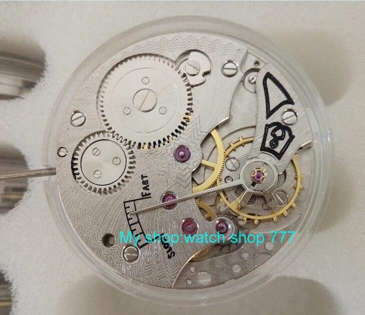 parnis 17 jewels mechanical 6498 hand-winding Movements fit for Men's watch jx02a