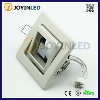 Frost white LED Ceiling GU10/MR16 Halogen bulbs holder square glass spotlight fitting aluminum white  die casting lamp holder