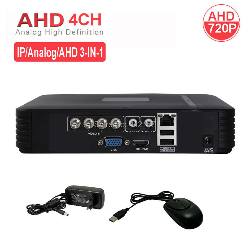 CCTV Security 4CH AHD 720P DVR Hybrid HVR HDMI Digital Video Recorder P2P PC Phone Mobile View Motion Detection