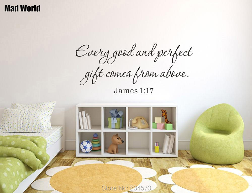 Every good and perfect gift comes from above Wall Art Stickers Wall Decal Home DIY Decoration Removable Room Decor Wall Stickers