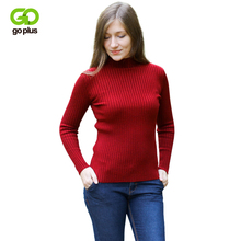GOPLUS 2019 Spring Winter knitted Sweater Women Half Turtleneck Slim Long Sleeve Elasticity Basic Pullovers Female Top