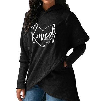 2019 Drop Shipping Wholesale New Fashion Love Print Sweatshirts Femmes Hoodies Tops Street Thick Sweet Pullovers for Women