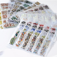1bag Multi-sizes Pangles Crystal Rhinestones for Nails Art Decorations Beads 3D Nail Art Rhinestones Design Manicure Accessories Skin Care