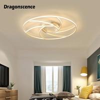 Dragonscence Moderne decke Kronleuchter für wohnzimmer schlafzimmer beleuchtung Designer Aluminium LED Kronleuchter Leuchten Innen lampe-in Kronleuchter aus Licht & Beleuchtung bei
