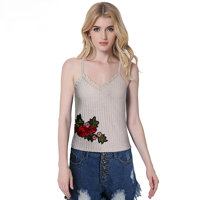 0a98a35af9aa Bralette Tops Women 2017 Summer embroidery Solid Camisole Sexy Brandy  Melville Sleeveless Strap Lace Tank Top women bustier