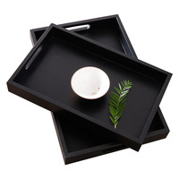 Wooden bread tray rectangular solid wood bread plate display plate cake made to order wooden sushi cake