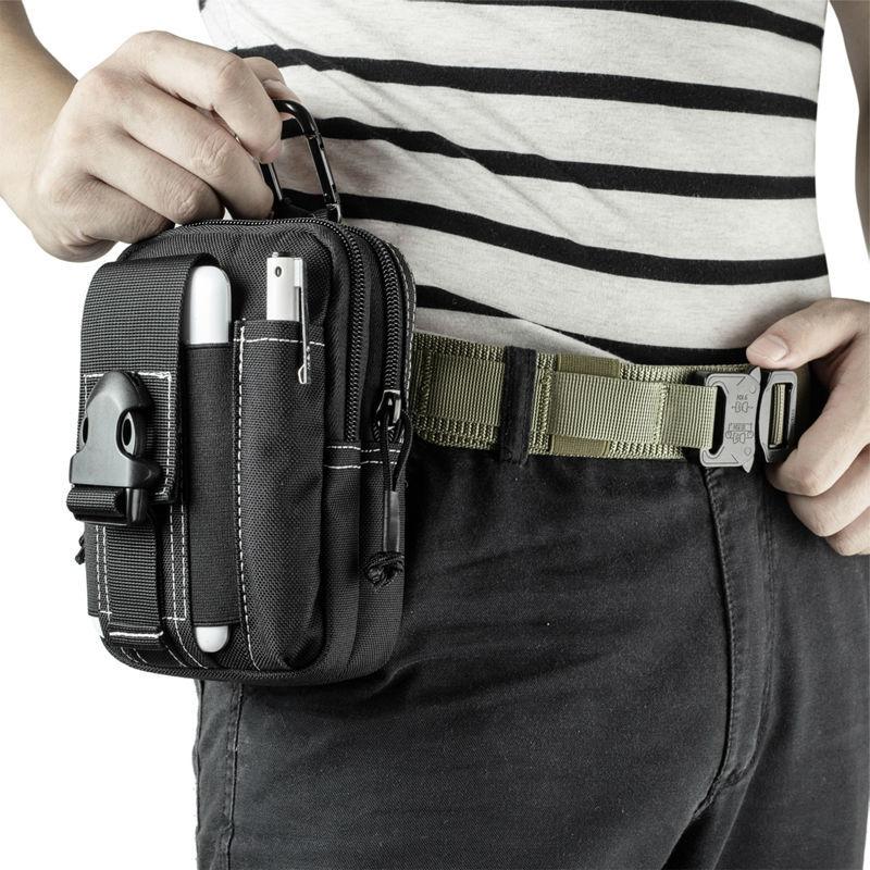 OneTigris Tactical Outdoor Hiking Nylon Bag Compact MOLLE EDC Pouch Utility Gadget Pouch Military Case Protable Waist Bag  gadget