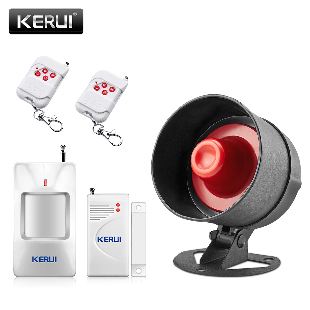 KERUI Wireless Burglar Home Sensor Alarm Siren System Security Alarm System For Home House PIR/Door Sensor Remote Control kerui wireless wired gsm voice burglar home house security alarm app control tft touch panel wireless smoke detector pir sensor