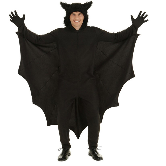 Adult Men Animal Cosplay Cute Black Bat Costume Halloween Costumes