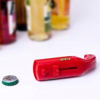 Portable Bottle Cap Launcher Flying Cap Beer Opener Funny Drink Opening Shooter Bar Tools 130*55*38mm 4