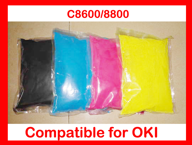 Free Shipping Compatible for OKI C8600 / C8800 Chemical Color Toner Powder Refill toner cartridge printer color powder 4KG powder for oki data c9650 n for oki data c 9800mfp for oki 9850 n powder black reset printer powder free shipping
