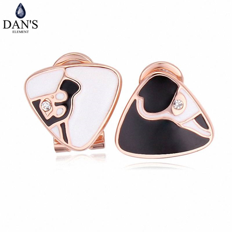 DANS Colors Real Austrian crystals Stud earrings for women Earrings s New Sale Hot Round 120676
