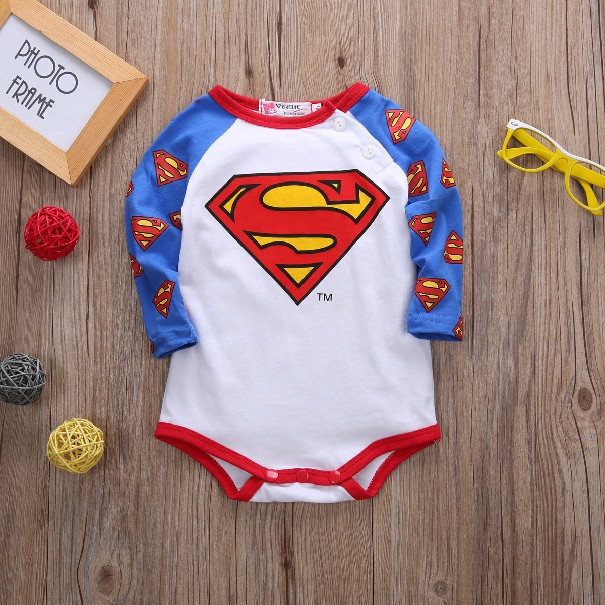 Newborn Infant Kids Baby Boy Girl Clothes Long Sleeve  Bodysuit Outfits 0-24M