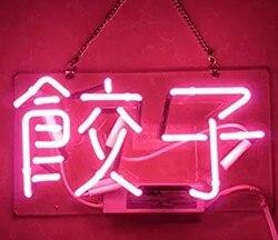Custom Roze Dumplings Glass Neon Light Teken Bier Bar