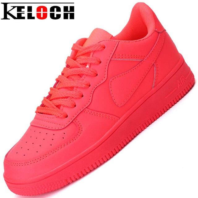 Keloch Обувь Женщины 2016 Новая Коллекция Весна Кожа PU Женщины Повседневная Обувь, Босоножки, Мода Туфли На Платформе Квартиры Высокий верх