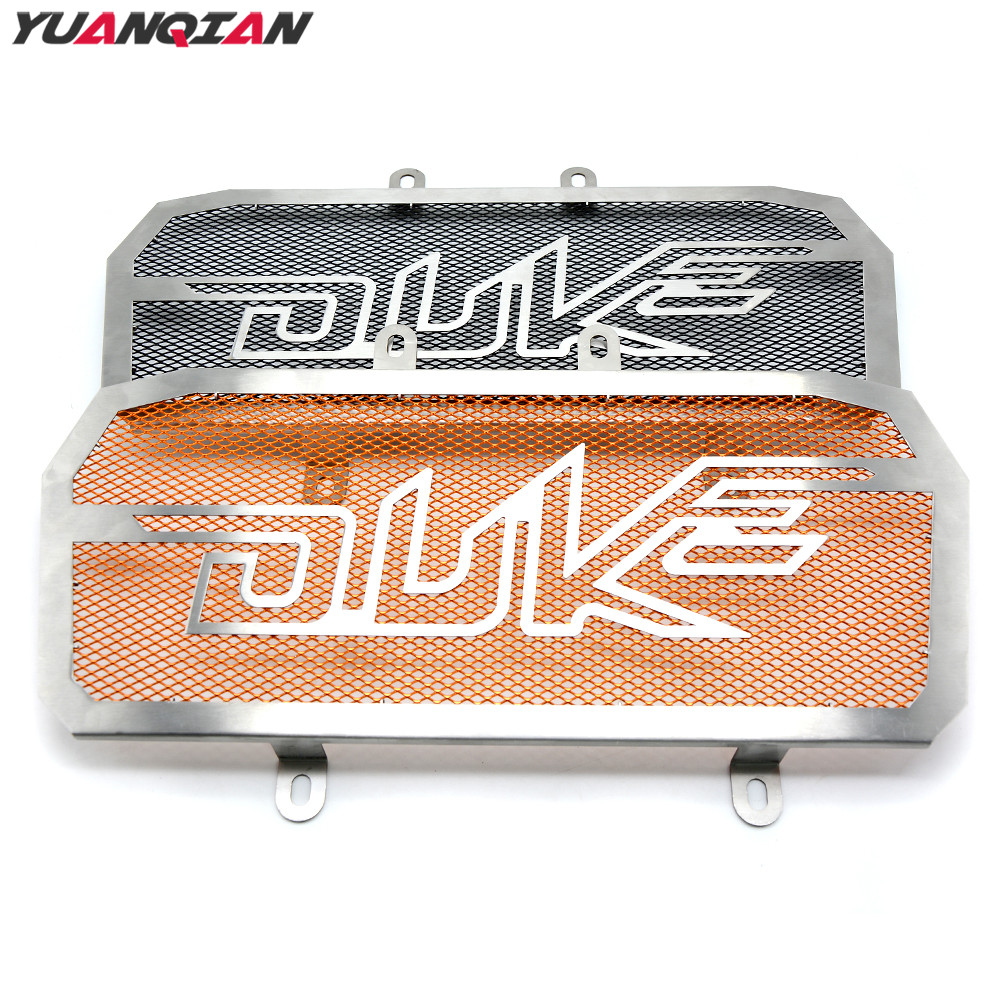 For Duke 125 200 390 Racing Motorcycle Accessories Stainless Steel Motorbike Radiator Grill Guard Cover For KTM Duke 125 200 390 for ktm logo 125 200 390 690 duke rc 200 390 motorcycle accessories cnc engine oil filter cover cap