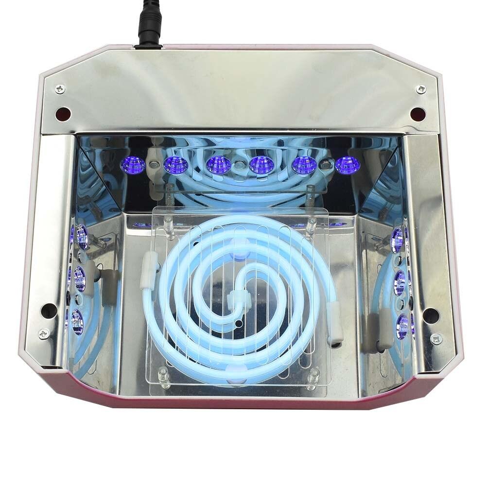 Jewhiteny 36 Watt UV-LED-LAMPE Nagel Trockner Diamant Geformt FÜHRTE ...