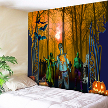 Halloween Wall Hanging Forest Tapestry Art Decoration Psychedelic Hippie Home Decor Fabric Cloth Large Size