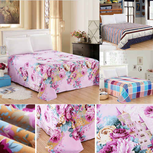Uk Full Ed Sheet Bed Sheets 100 Poly Cotton 4 Sizes New Flora Color