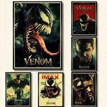 Nuevo Venom película Tom Hardy Poster Marvel Comics Hero Posters kraft papel impresiones arte de la pared vintage poster para la decoración del hogar