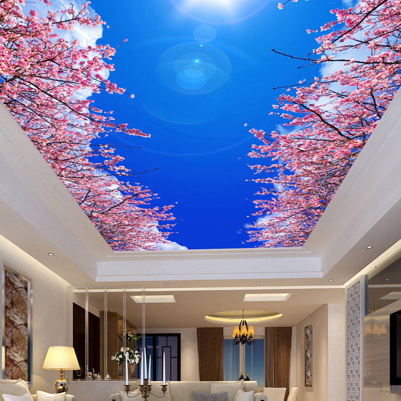 Online buy wholesale ceiling murals wallpaper from china for Ceiling mural wallpaper