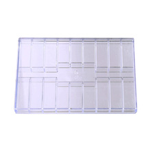 Plastic screw case components box 19 grid transparent Jewelry Tool Ring Electronic