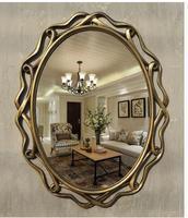 Hanging porch decorate hollow oval vanity mirror bathroom mirror