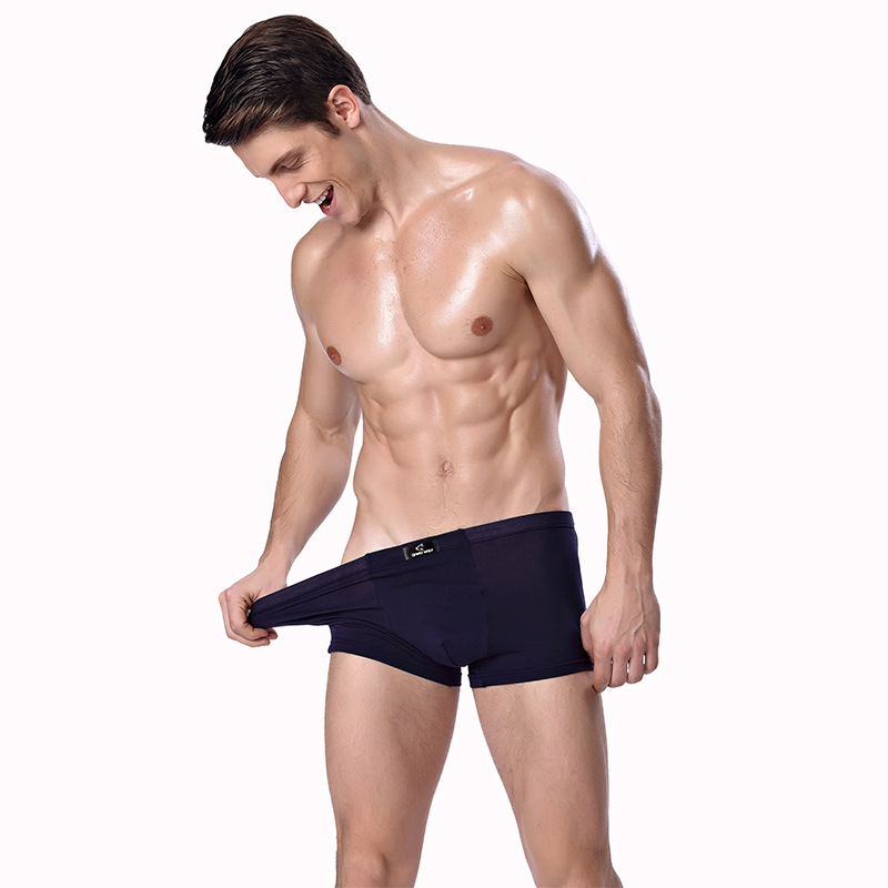 Image 3 - 2019 Brand Clothing Mens Underwear Boxer bamboo fiber Casual Male Men's Short Masculina De Marca Man Underpants Solid Color-in Boxers from Underwear & Sleepwears