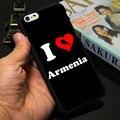 I Love Armenia Black Phone Case for iPhone 5S 5 SE 5C 4 4S 6 6S 7 Plus Cover (Soft TPU / Hard Plastic for Choice )